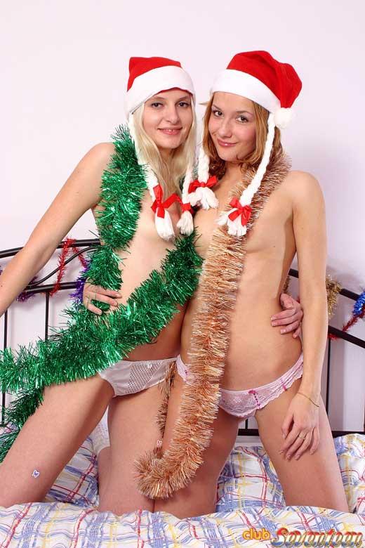 Desnudas en Navidad