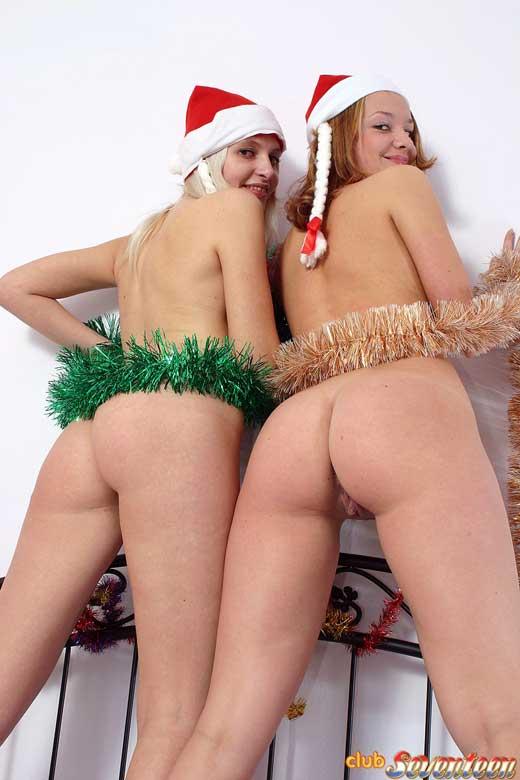 Las ayudantes de Papa Noel se desnudan en Navidad