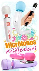 micrófonos masajeadores