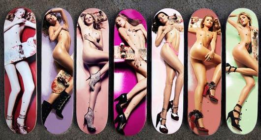 Estrellas porno y tablas de skate